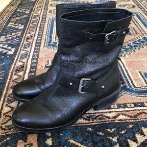 Franco Sarto Leather moto style boots